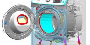 Adams Marc Co-Simulation of a Washing Machine