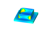 Simulate DED processes with Simufact Welding in order to identify stresses, strains and distortions